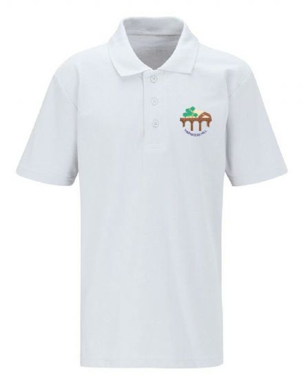 Harwood Hill Primary White Polo